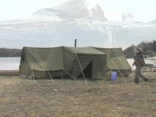 Used Russian Military 8x18u0027 Canvas Tent Olive Drab - 130877 Tents u0026 Accessories at Sportsmanu0027s Guide & Used Russian Military 8x18u0027 Canvas Tent Olive Drab - 130877 ...