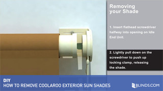 Coolaroo Exterior Sun Shade Removal How To Videos Window Blinds Shades