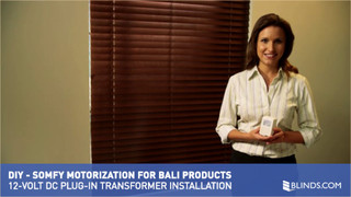 Bali motorization by somfy 12 volt dc plug in for Bali motorized blinds cost