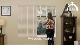 Quickdemo Two On One Headrail For Aluminum Blinds