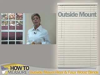 How To Measure For Outside Mount Wood And Fauxwood Blinds