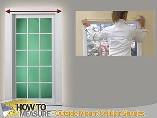 How To Measure For Outside Mount Cellular Shades