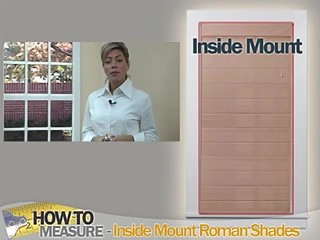 How To Measure For Inside Mount Roman Shades Blinds Com