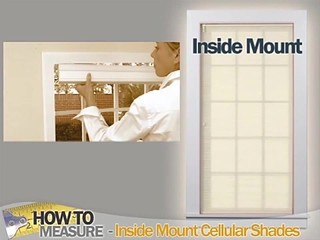 How To Measure For Inside Mount Cellular Shades Blinds
