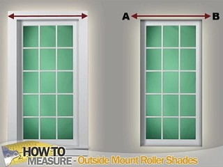 How To Measure For Outside Mount Roller Shades Blinds Discount Blinds Am