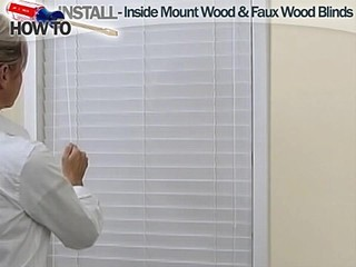 how to install inside wood and fauxwood blinds blinds discount blinds window shades for. Black Bedroom Furniture Sets. Home Design Ideas
