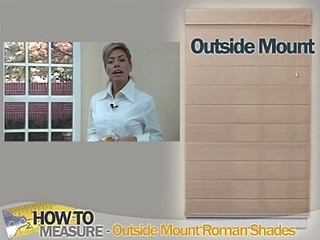 How To Measure For Outside Mount Roman Shades Blinds Discount Blinds Amp