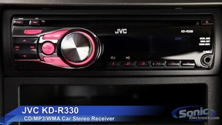 JVC KD-R330 Single-DIN Car Stereo w/ Aux Input - Sonic ... on pioneer avh-p1400dvd wiring harness, kenwood ddx419 wiring harness, jvc kw-av60bt wiring harness, dual xdvdn9131 wiring harness, jvc kd-r610 wiring harness,