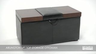 Lift Top Storage Ottoman 187 Bed Bath Amp Beyond Video