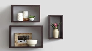 to be floating on your walls with the real simple decorative shelves this easy mount shelving makes a stylish statement in any room of your home - Decorative Shelf