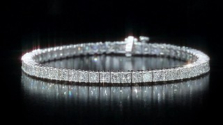 8 00ctw Princess Cut Diamond Bracelet Video Gallery
