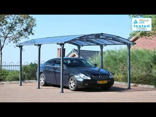 Palram Arcadia 5000 All Season Carport U0026raquo; Palram Industries   Patio    Lawn   Video Gallery
