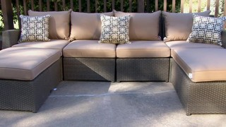 Hampton 6 Piece Patio Deep Seating Sectional By Sirio™ U0026raquo; Furniture    Video Gallery