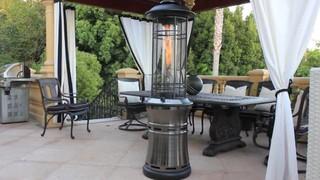 lava heat ember gun metal collapsible patio heater video