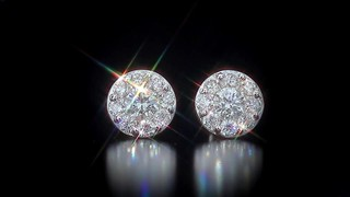 Round Brilliant Diamond Cer Earrings 1 45 Ctw 14kt White Gold Video Gallery