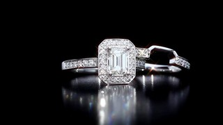 emerald cut round brilliant diamond wedding set 1 39 ctw